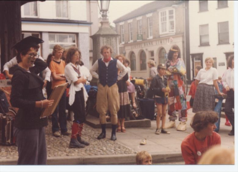 Photograph. Friends of the Earth, event, 1980? (North Walsham Archive).