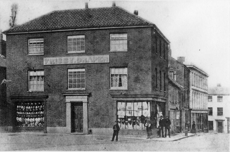 Photograph. Frisby, Draper. Waterloo House, Market Place, North Walsham (North Walsham Archive).