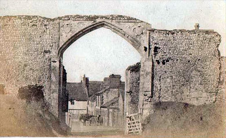 Photograph. Gateway of Bromholm Priory, Bacton.... looking north. Photo G.McLean. (North Walsham Archive).