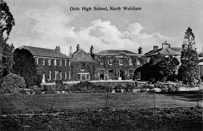 Photograph. The Girls High School, North Walsham. (North Walsham Archive).