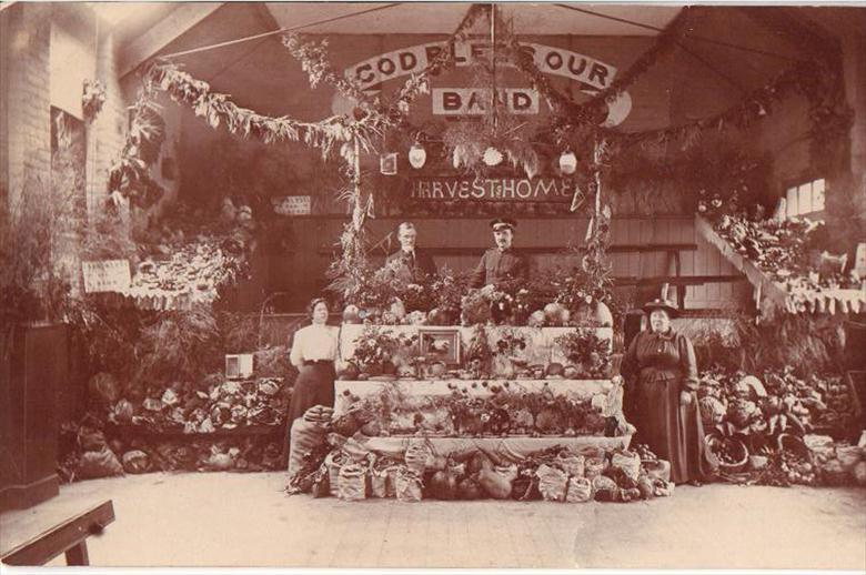 Photograph. Harvest Festival - North Walsham Salvation Army. (North Walsham Archive).