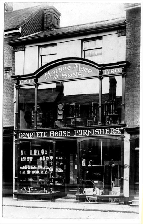 Photograph. Horace Mace & Sons, 7 Market Place, North Walsham. Furniture Makers. (North Walsham Archive).