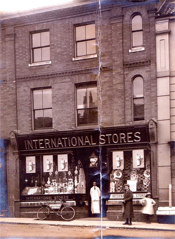 Photograph. International Stores.Market Place. (North Walsham Archive).