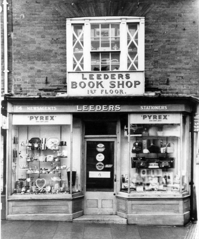 Photograph. Leeders Newsagents, 14 Market Place, North Walsham. (North Walsham Archive).