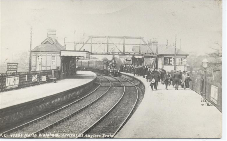 Photograph. M. GN Railway, North Walsham. (North Walsham Archive).