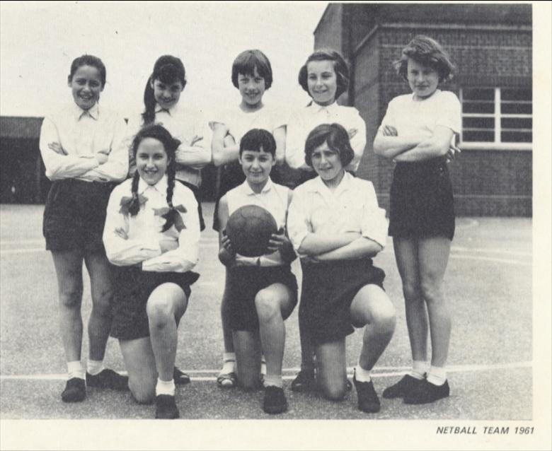 Photograph. Manor Road Primary school Netball Team 1961. (North Walsham Archive).