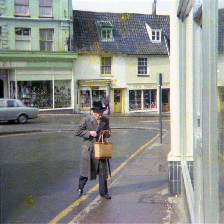 Photograph. Market Place, North Walsham. 1975 (North Walsham Archive).