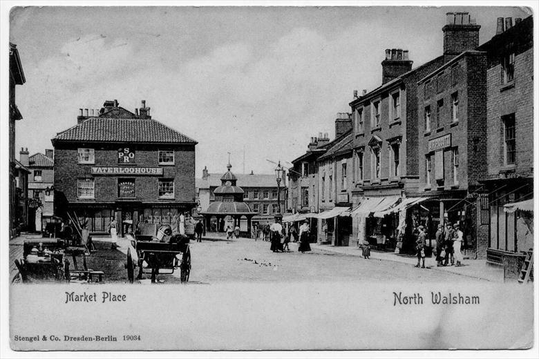 Photograph. Market Place, North Walsham, looking west (North Walsham Archive).