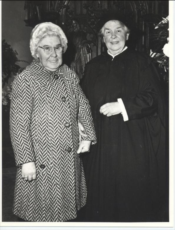 Photograph. Miss Annie Withers with Miss W Smith. (North Walsham Archive).