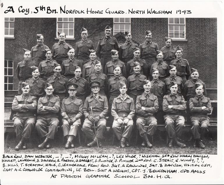 Photograph. Norfolk Home Guard (North Walsham Archive).