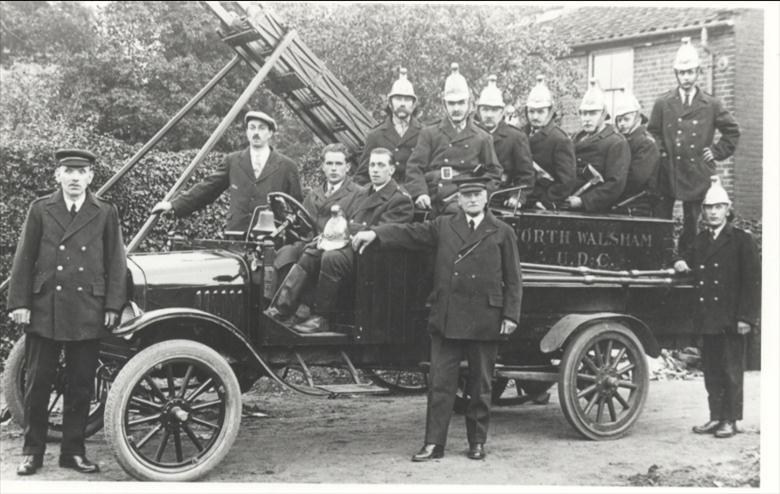 Photograph. North Walsham Fire Brigade. (North Walsham Archive).