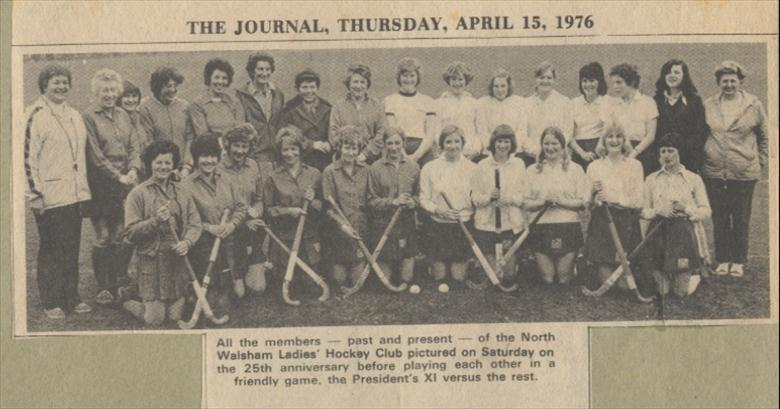 Photograph. North Walsham Ladies' Hockey Club, 25th Anniversary. (North Walsham Archive).