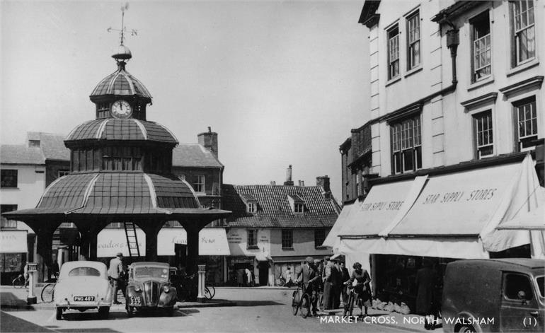 Photograph. North Walsham Market Cross in 1950s (North Walsham Archive).