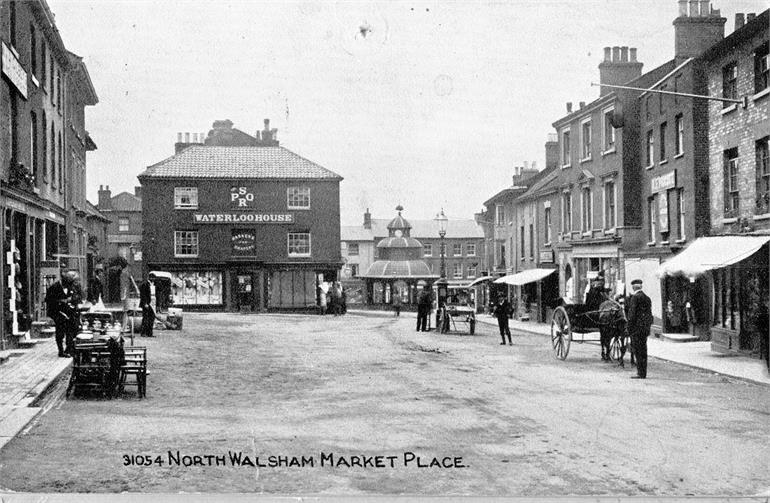 Photograph. North Walsham Market Place (North Walsham Archive).