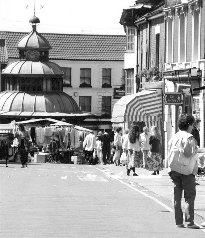 Photograph. North Walsham Market (North Walsham Archive).