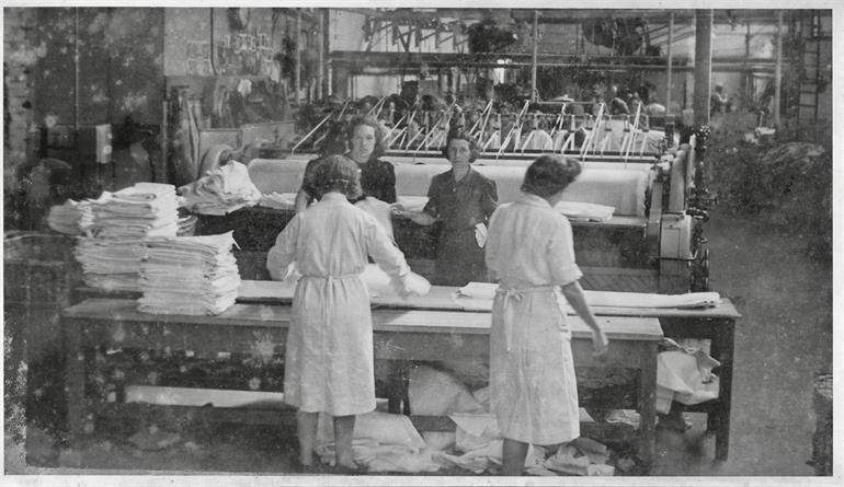 Photograph. North Walsham Steam Laundry in the 1950s (North Walsham Archive).