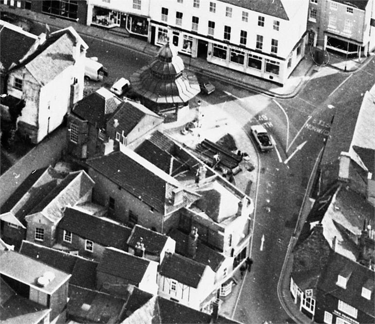 Photograph. North Walsham Town Centre aerial view (North Walsham Archive).