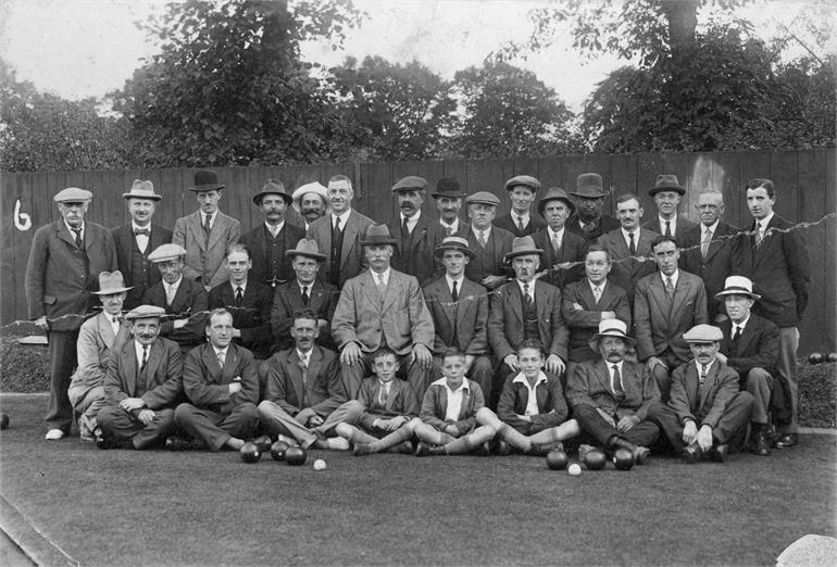 Photograph. Orchard Garden's Bowls Club (North Walsham Archive).