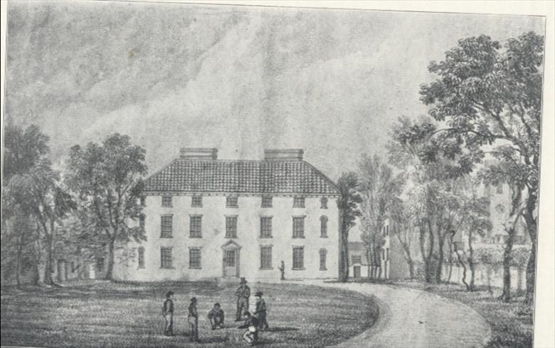 Photograph. The Paston Grammar School, old sketch early 18th century. (North Walsham Archive).
