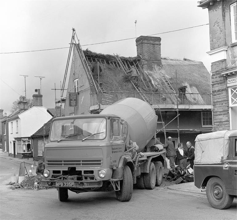 Photograph. Renovation of Kett's Coffee House, Mundesley Road - 1980.