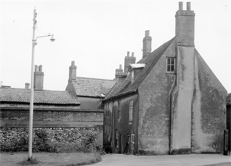 Photograph. Ship Yard, North Walsham in the 1950s (North Walsham Archive).
