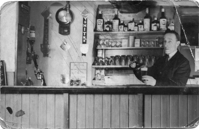 Photograph. Sid Sexton - Landlord of The White Swan (North Walsham Archive).