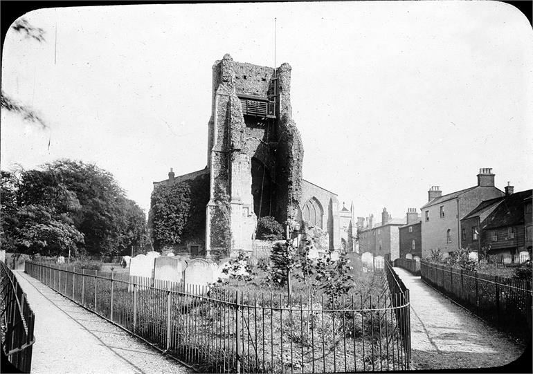 St Nicholas' Church in early 1900s viewed from the west