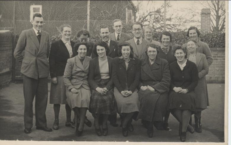 Photograph. Teachers at North Walsham Infants and Primary School. (North Walsham Archive).