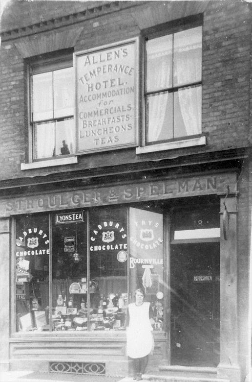 Photograph. The Temperance Hotel, Market Place, North Walsham (North Walsham Archive).