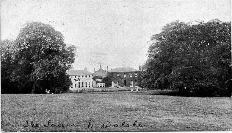 "Photograph. ""The Elms School"", later called ""The Lawns"", North Walsham....... The Girls High School (North Walsham Archive)."