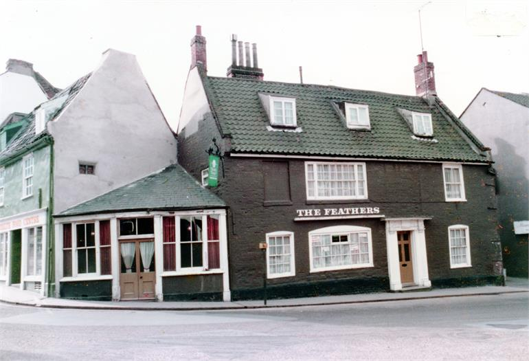 Photograph. The Feathers Public House, North Walsham (North Walsham Archive).
