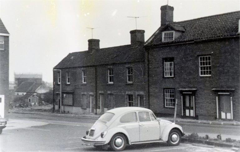 Photograph. Vicarage Street, North Walsham. (North Walsham Archive).