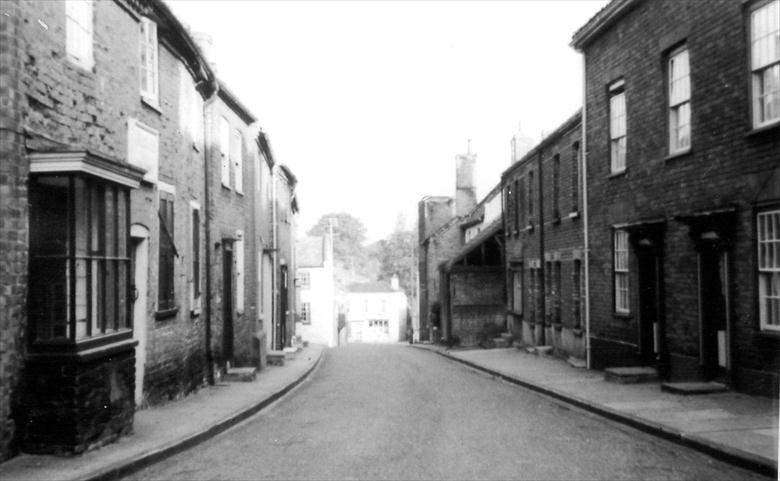 Photograph. Vicarage Street, North Walsham, looking downhill (North Walsham Archive).