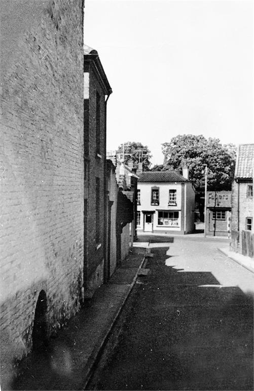 Photograph. Lower Vicarage Street in the Sixties (North Walsham Archive).