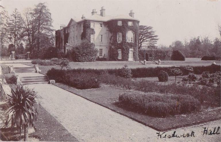 Photograph. Westwick Hall 1906 (North Walsham Archive).