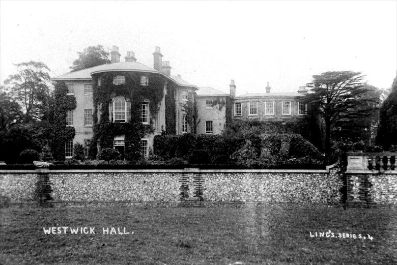Photograph. Westwick Hall, seat of Berney Petre, Esq. Photo R.M.Ling (1) (North Walsham Archive).