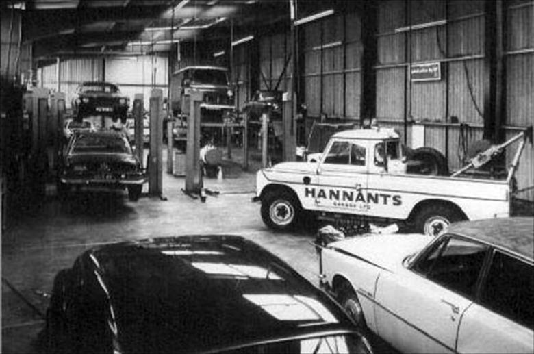 Photograph. Workshop interior at Hannant's Garage, Bacton Road. (North Walsham Archive).
