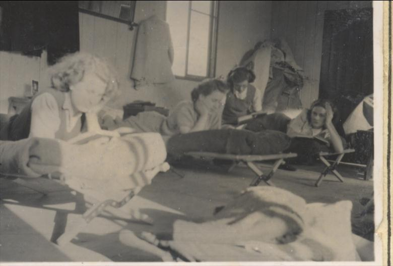 Photograph. Youth Club, North Walsham at camp in 1949. (North Walsham Archive).